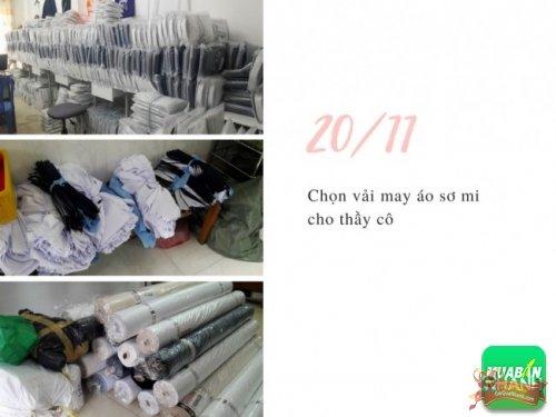 Chọn vải may áo sơ mi cho thầy cô giáo nhân lễ 20/11