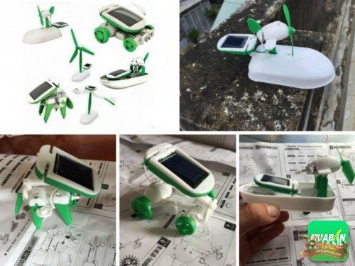Mô hình đồ chơi tự lắp ráp năng lượng mặt trời cho trẻ, kích thích khả năng sáng tạo