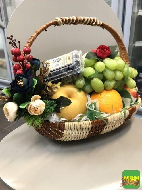 Giỏ trái cây 20/10: Giỏ trái cây nhập khẩu cao cấp - Quà tặng ý nghĩa cho mẹ