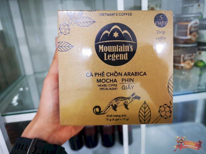 Cà phê Chồn Túi Lọc Arabica Mountains Leggend 75g - MSN181362