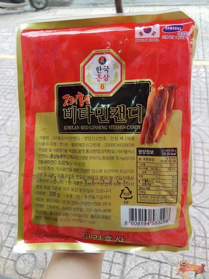 Kẹo Hồng Sâm Con Hạc Red Ginseng Candy 200g Hàn Quốc - MSN181373
